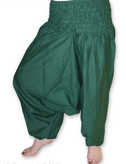 Zelené kalhoty šaravary jb-026ze