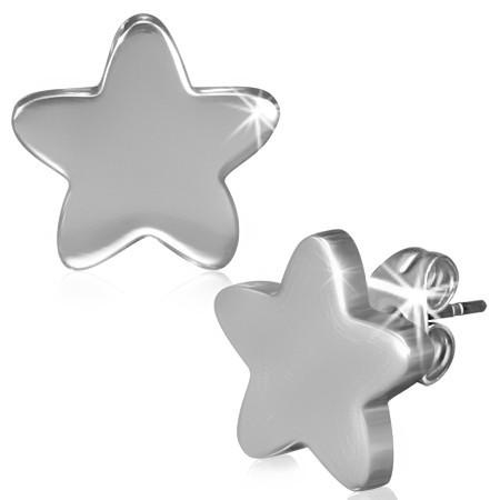 Ocelové náušnice - hvězdy th-jes259