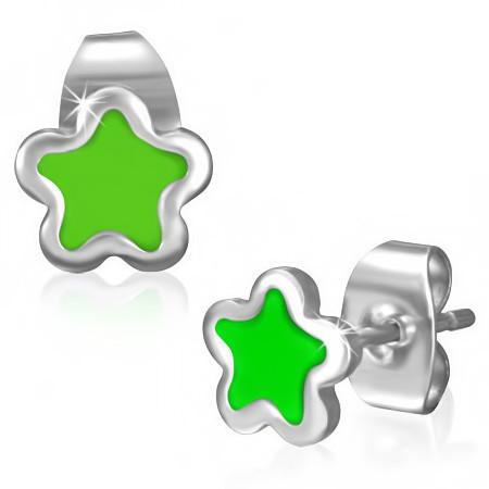 Ocelové náušnice - hvězdičky th-jes283