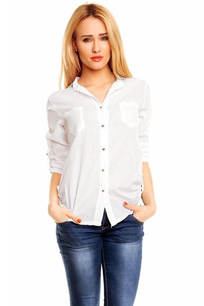 Bílá dámská košile hs-ha024wh
