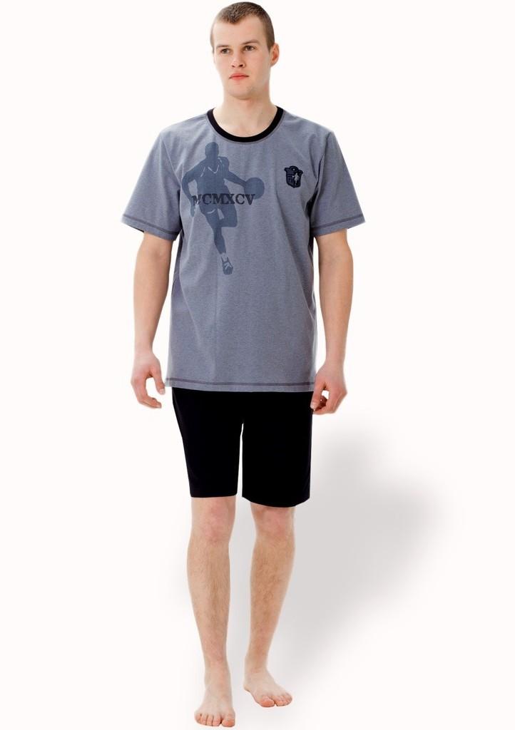 Pánské pyžamo s obrázkem basketbalisty a kraťasy