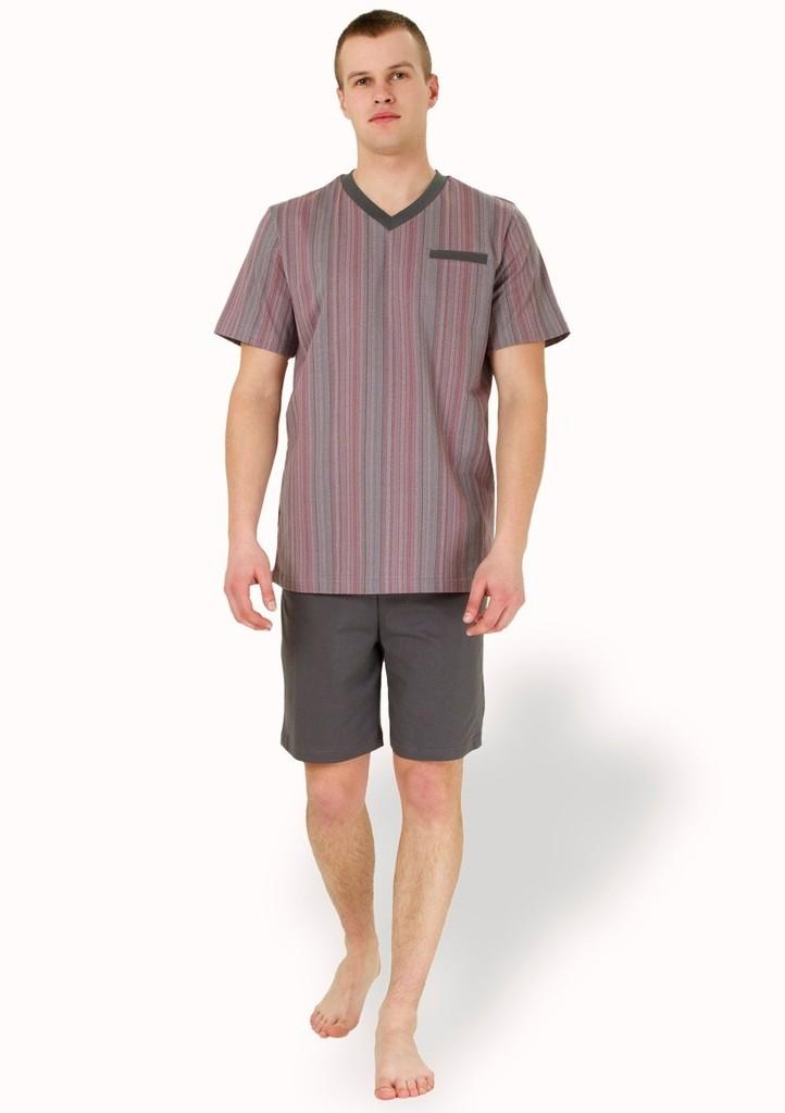 Pánské pyžamo s kapsičkou a kraťasy