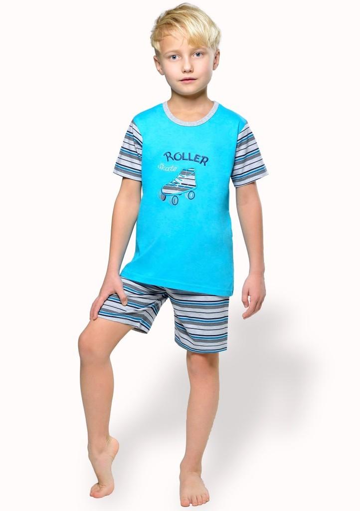 Dětské pyžamo s obrázkem brusle a kraťasy