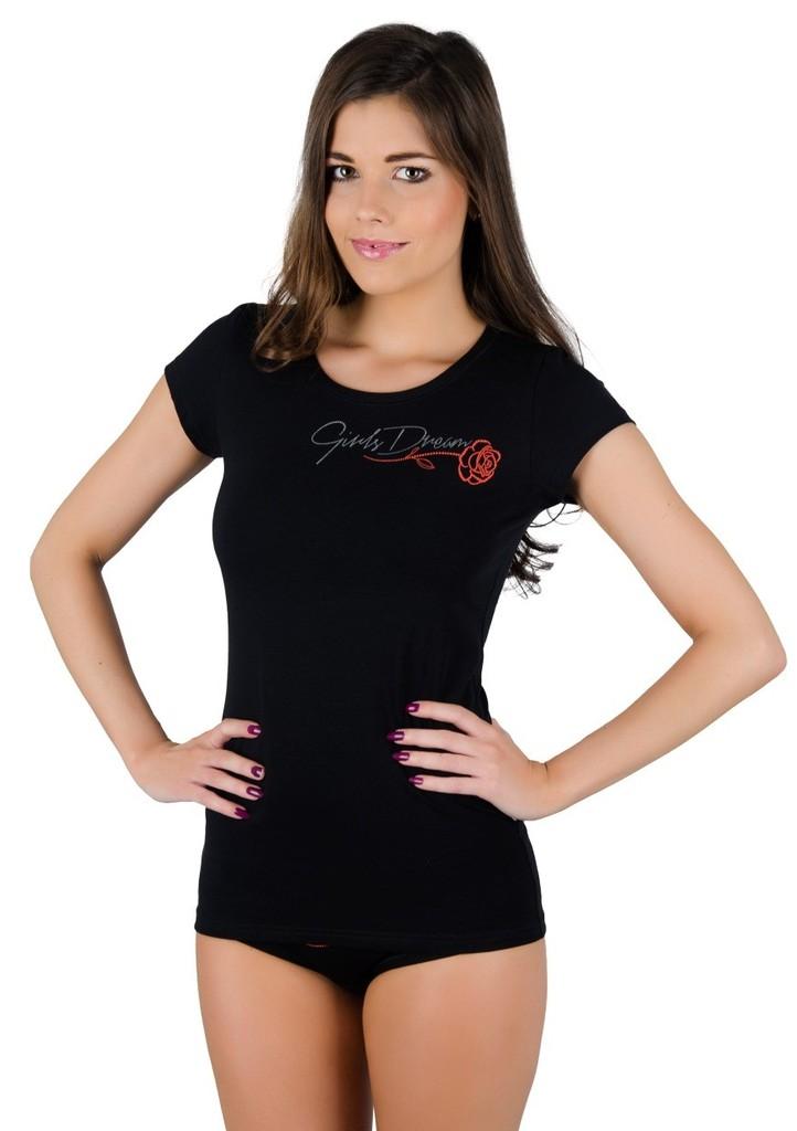 Dámské tričko s obrázkem růžičky