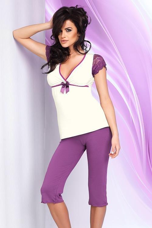 Dámské pyžamo Betty PJ 3/4 violet