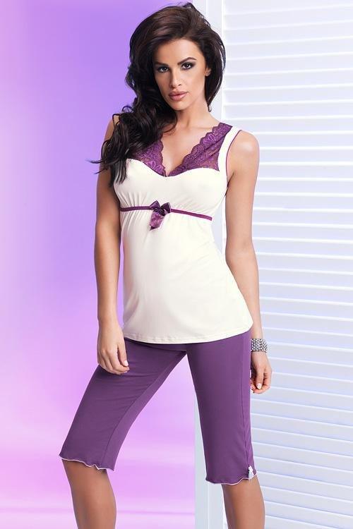 Luxusní pyžamo Betty II PJ 3/4 violet