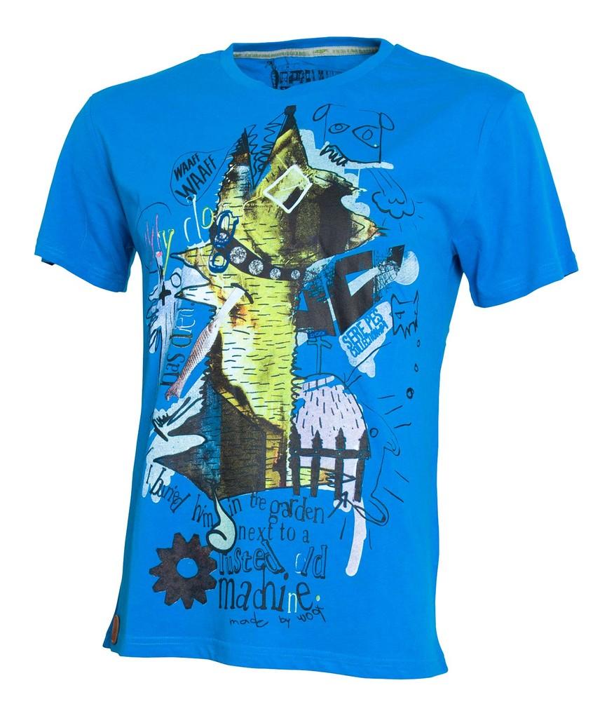 Pánské tričko Sere Pes Vol. 4 Blue
