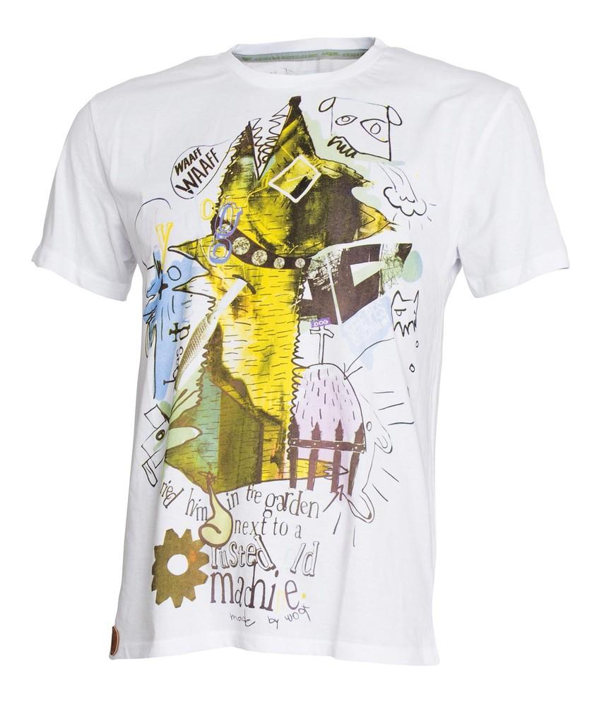 Pánské tričko Sere Pes Vol. 4 White