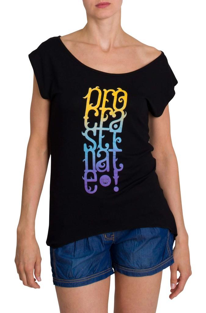 Dámské tričko Procrastinate Black