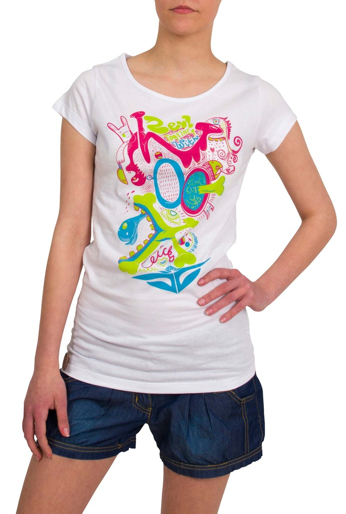 Dámské tričko Zevl Chicks White