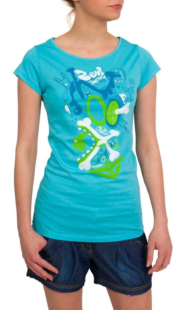 Dámské tričko Zevl Chicks Blue