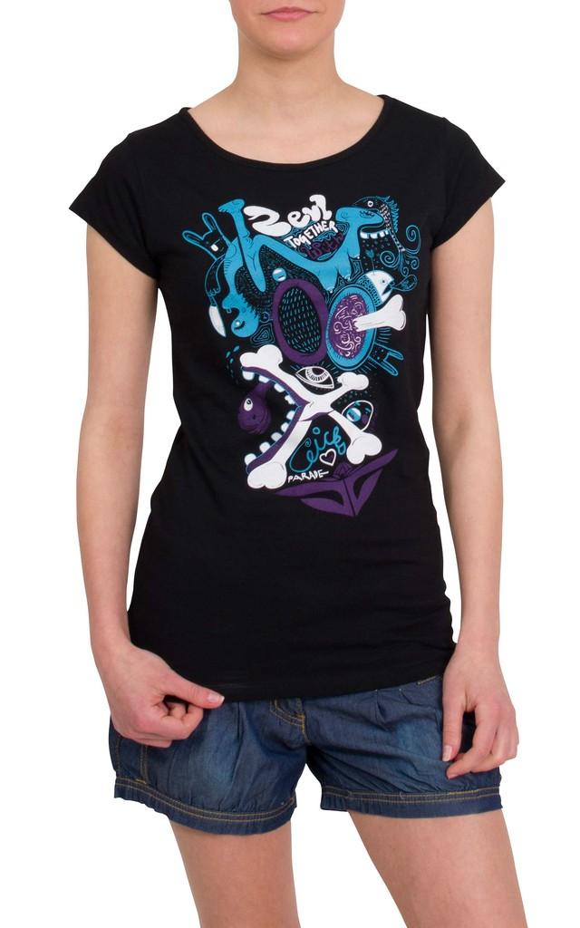 Dámské tričko Zevl Chicks Black