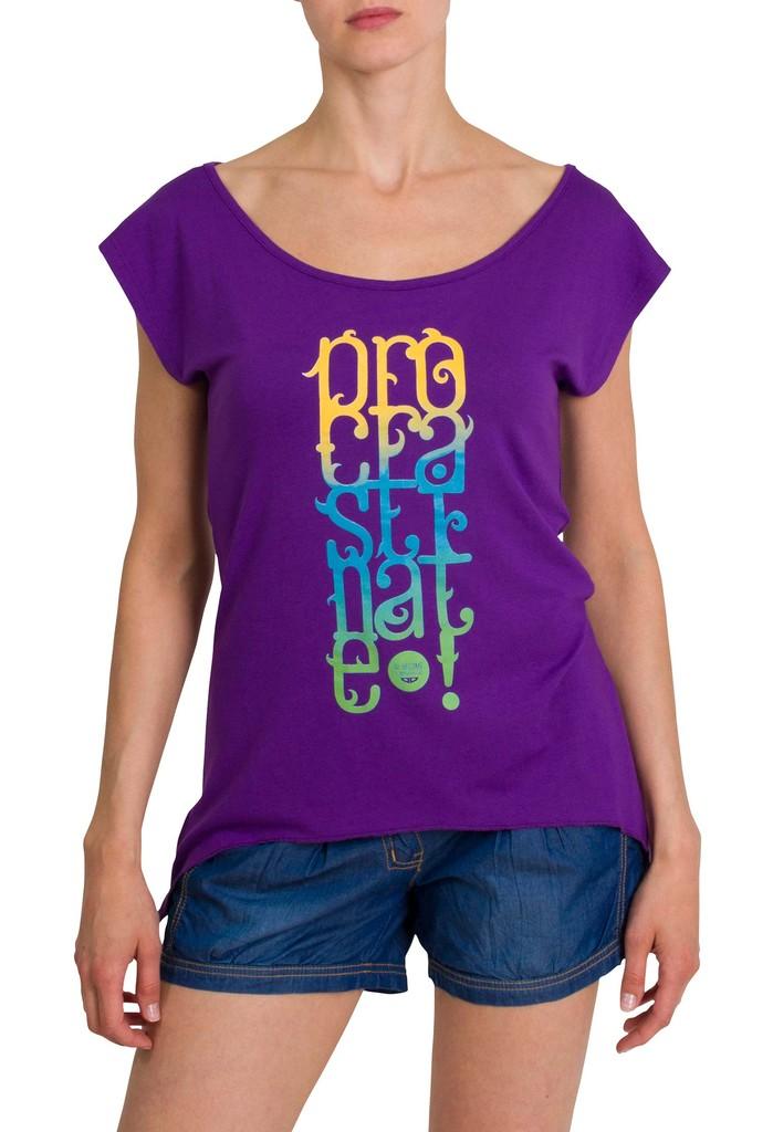 Dámské tričko Procrastinate Violet