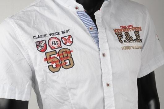 Bílá pánské košile p-ko02wh