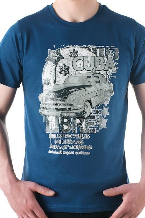 Pánské tričko OTS 1200-015 blue