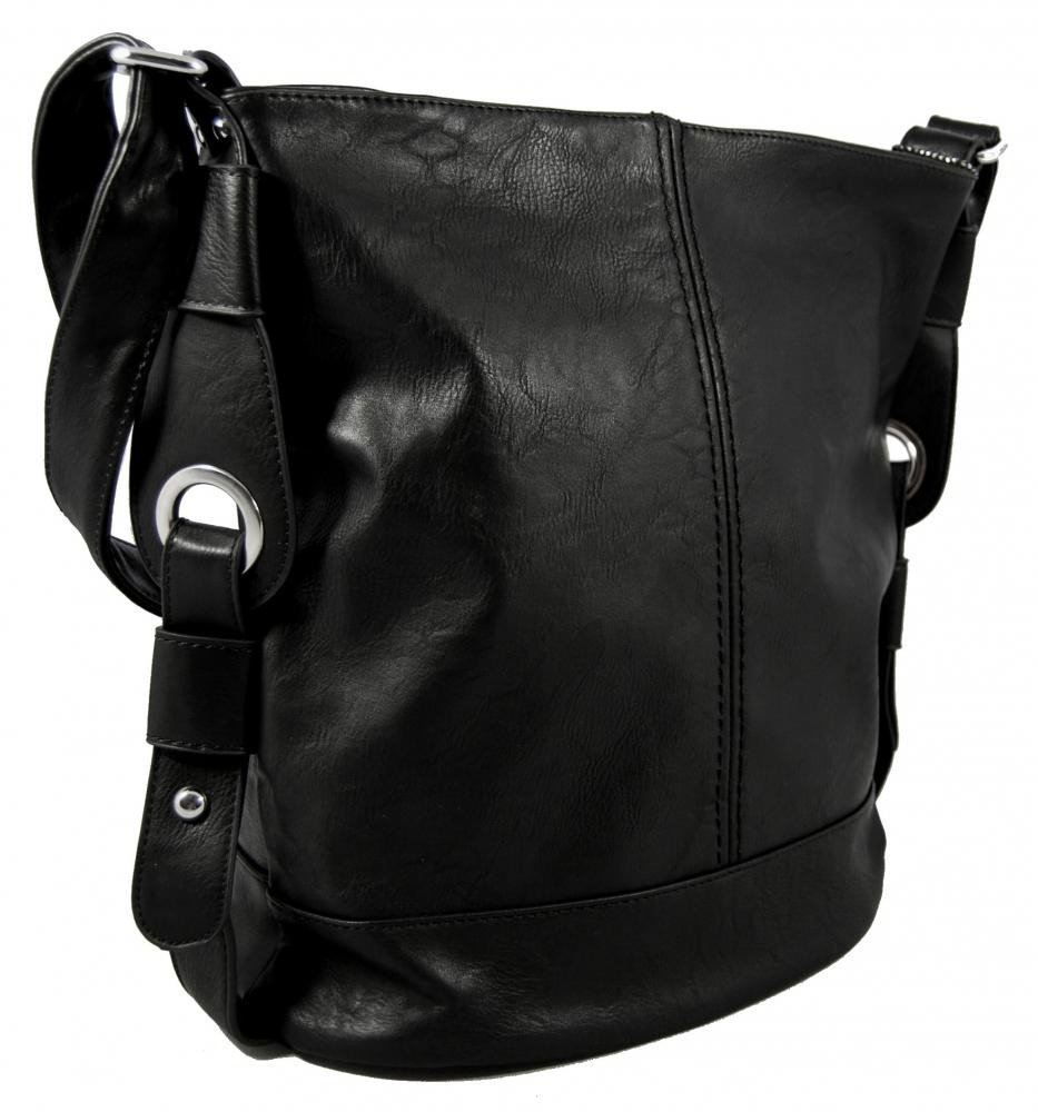 Střední dámská crossbody kabelka D1050 černá