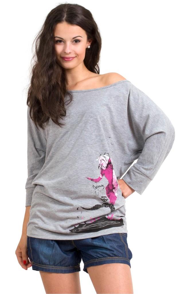 Dámské tričko Octopussy Grey