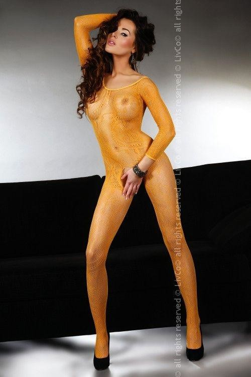 Bodystocking Abra orange