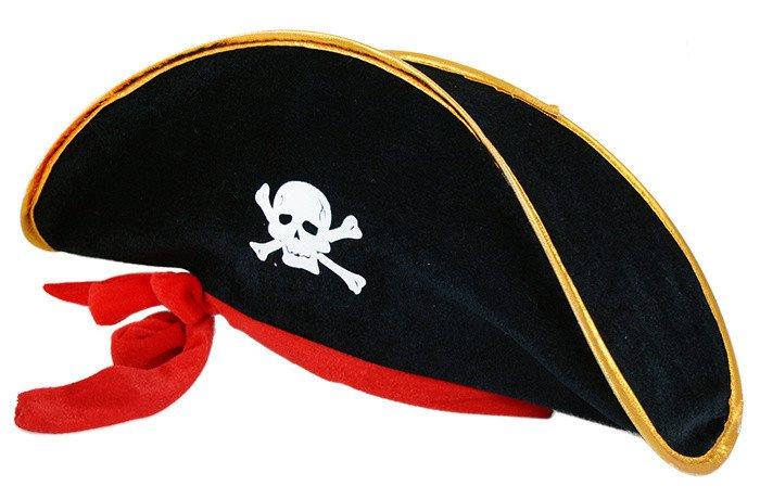 Klobouk kapitán pirát se stuhou-dospělý