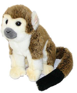 Plyšová opice sedící 18 cm