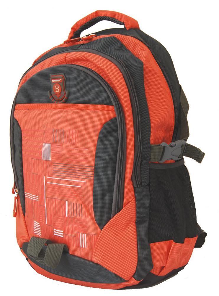 Batoh do města / do školy L814 oranžovo-šedý