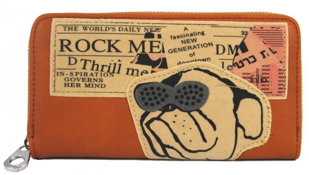 Moderní dámská peněženka hnědá ROCK FD-024