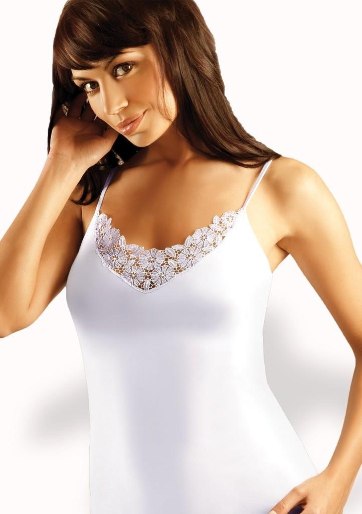 Dámská košilka na ramínka s krajkou Kasia