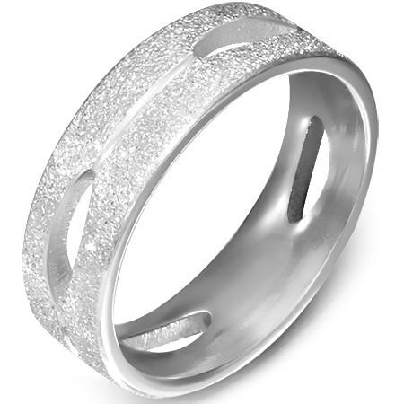 Ocelový dámský prsten