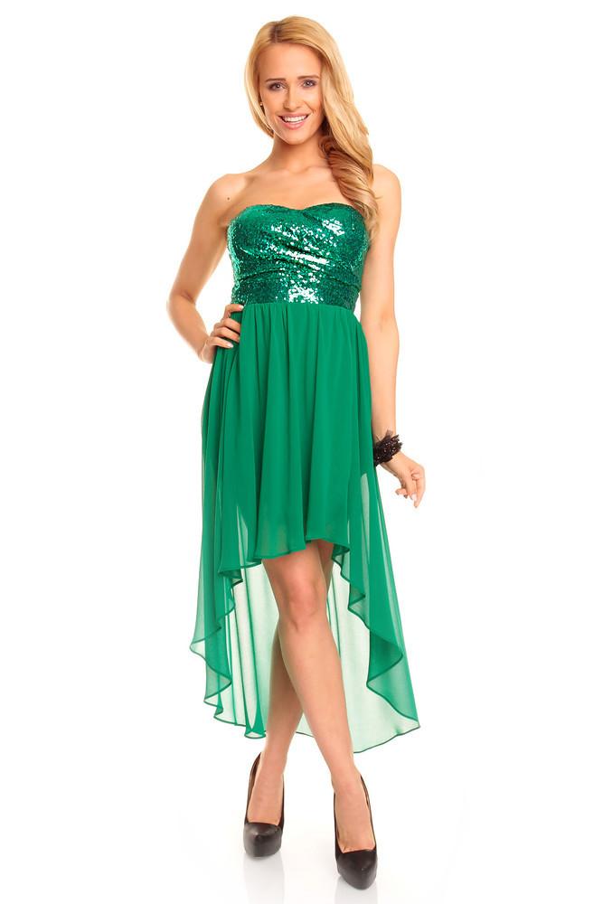 Zelené plesové šaty hs-sa353ze