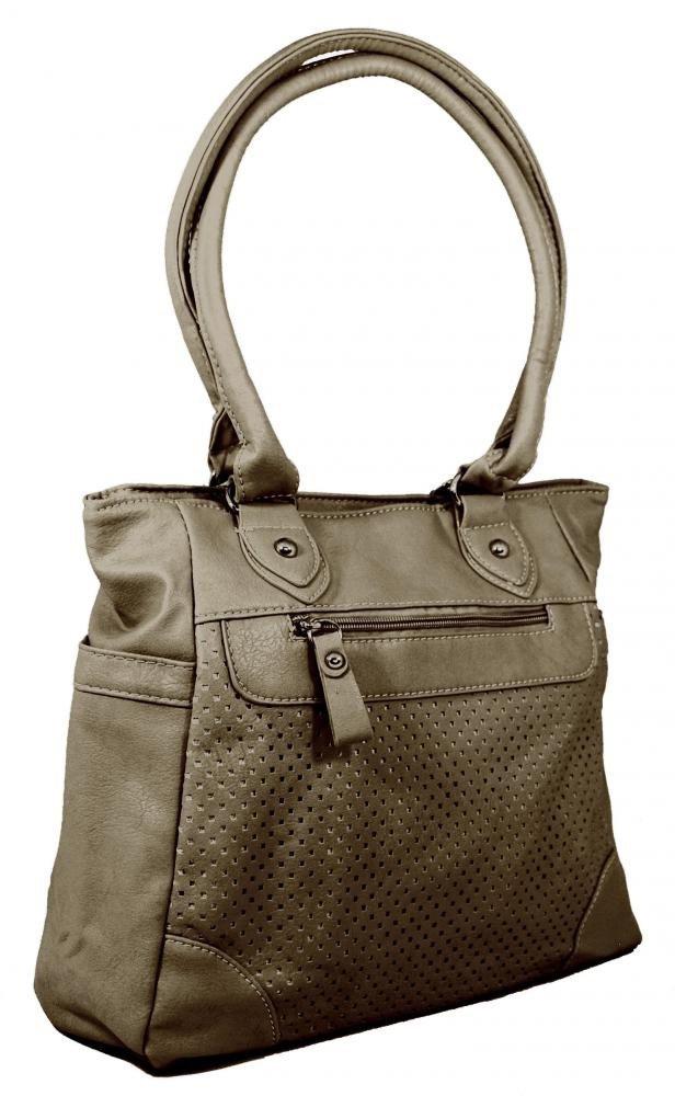 Lehká kabelka na rameno BH138 šedo-hnědá