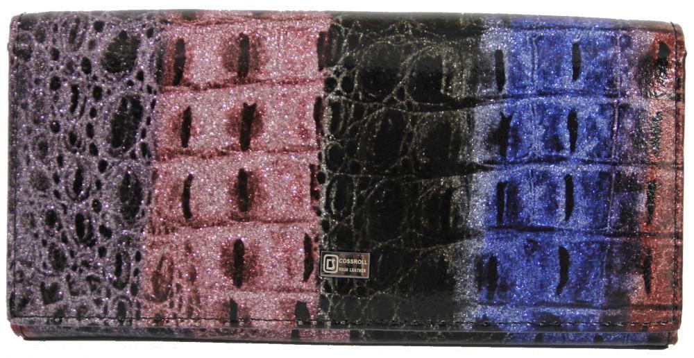 Dámská polokožená peněženka E06-5242 černá