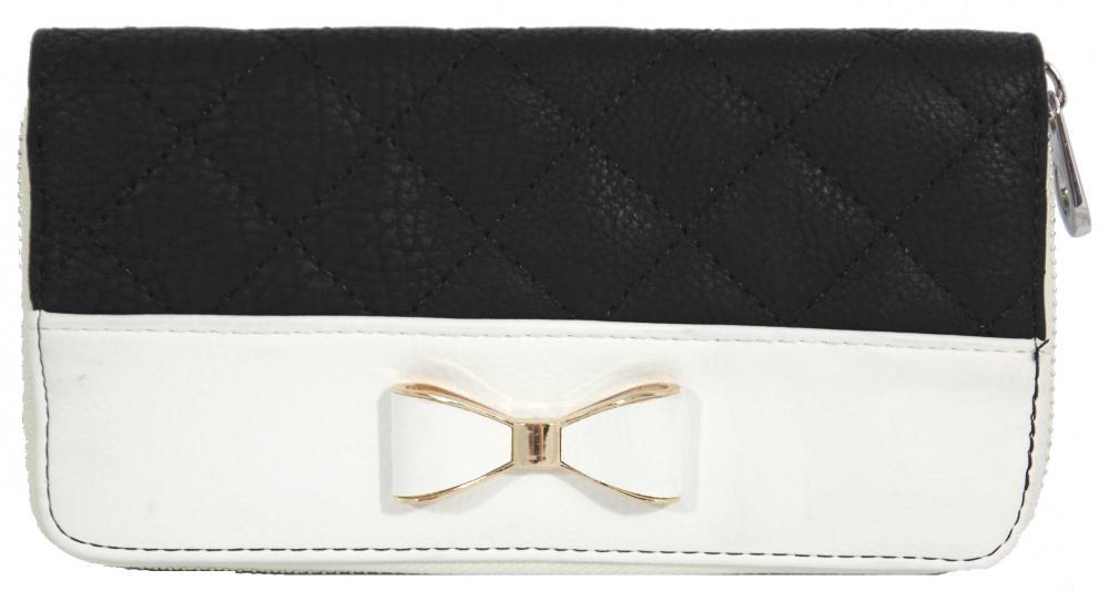 Praktická dámská peněženka s mašličkou FD-025 bílá