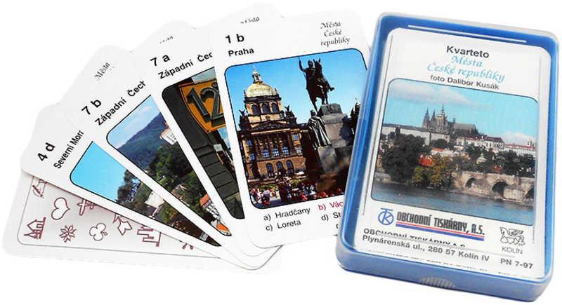 Hra karty Kvarteto Města