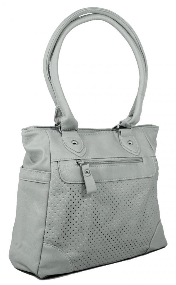 Lehká kabelka na rameno BH138 světlá šedá