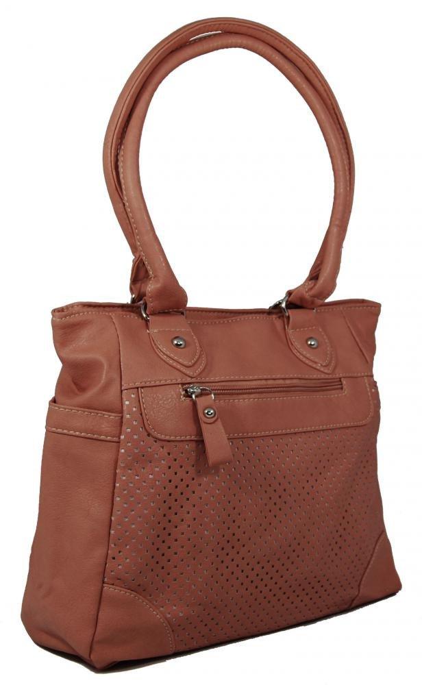 Lehká kabelka na rameno BH138 pastelová růžová