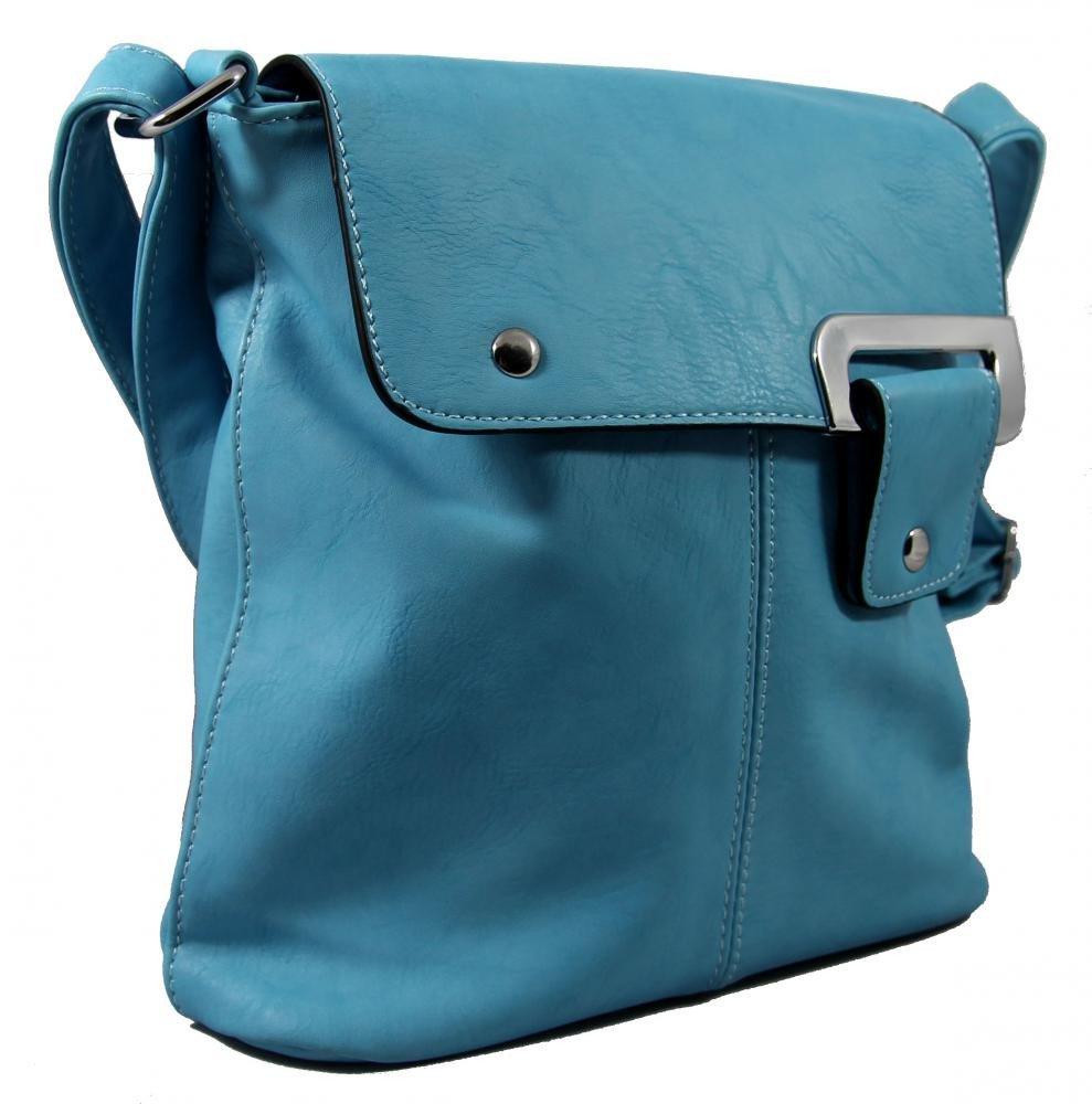 Menší crossbody dámská kabelka D1083 modrá