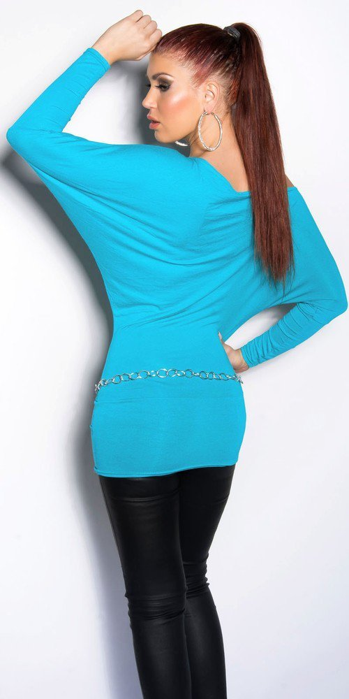 Modrá dámská tunika in-ha25tu