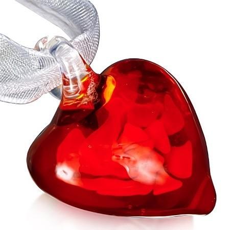Skleněný náhrdelník Heart th-fce429