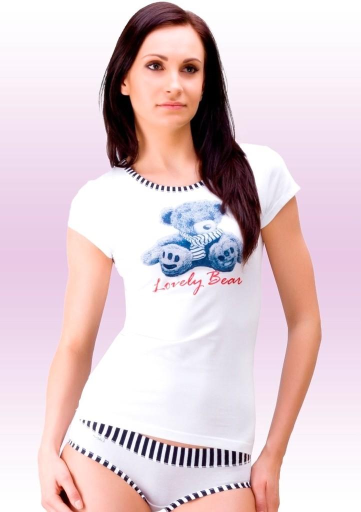 Dámské tričko s obrázkem medvěda