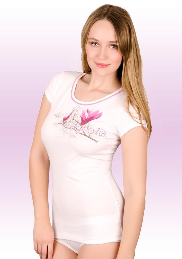 Dámské tričko s obrázkem magnolie