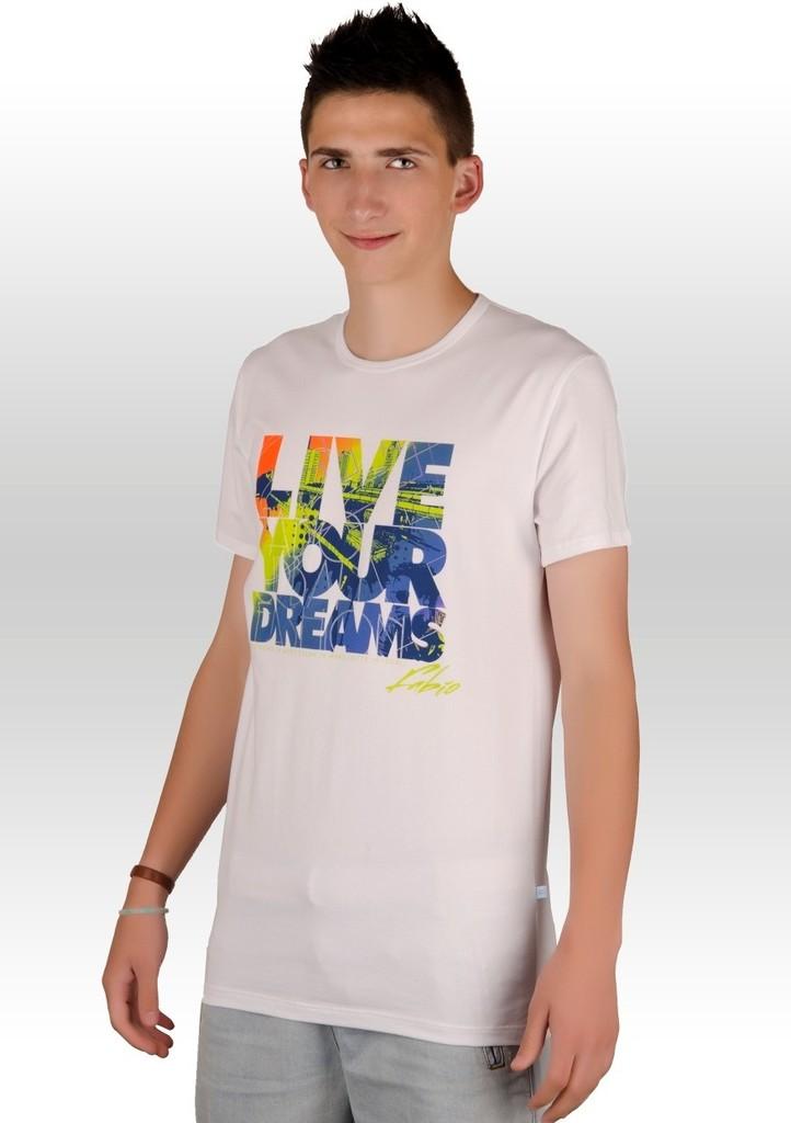Pánské tričko s nápisem Live your dreams