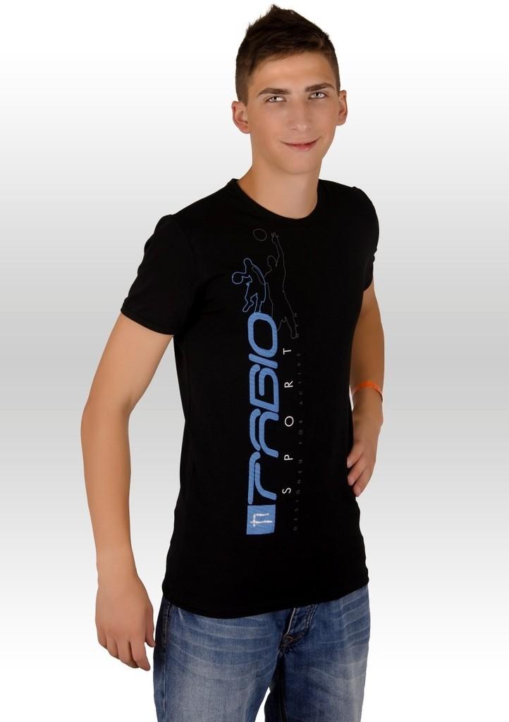 Pánské tričko s barevným nápisem Fabio sport