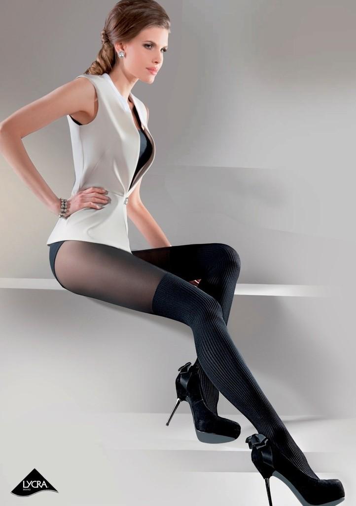 Dámské vzorované punčochové kalhoty Rita
