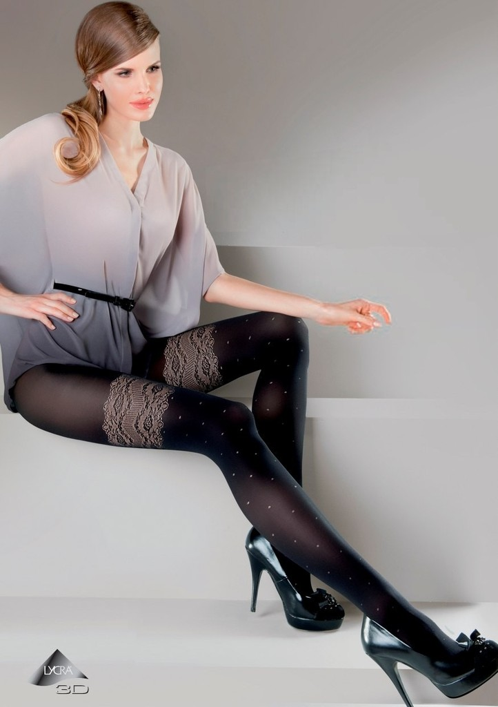 Dámské vzorované punčochové kalhoty Dafne