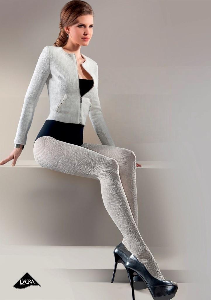 Dámské vzorované punčochové kalhoty Elisa