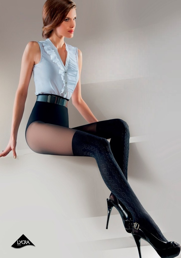 Dámské vzorované punčochové kalhoty Frida
