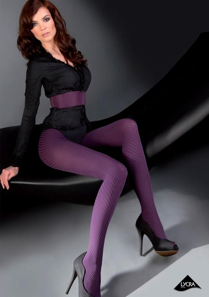 Dámské vzorované punčochové kalhoty Nadin