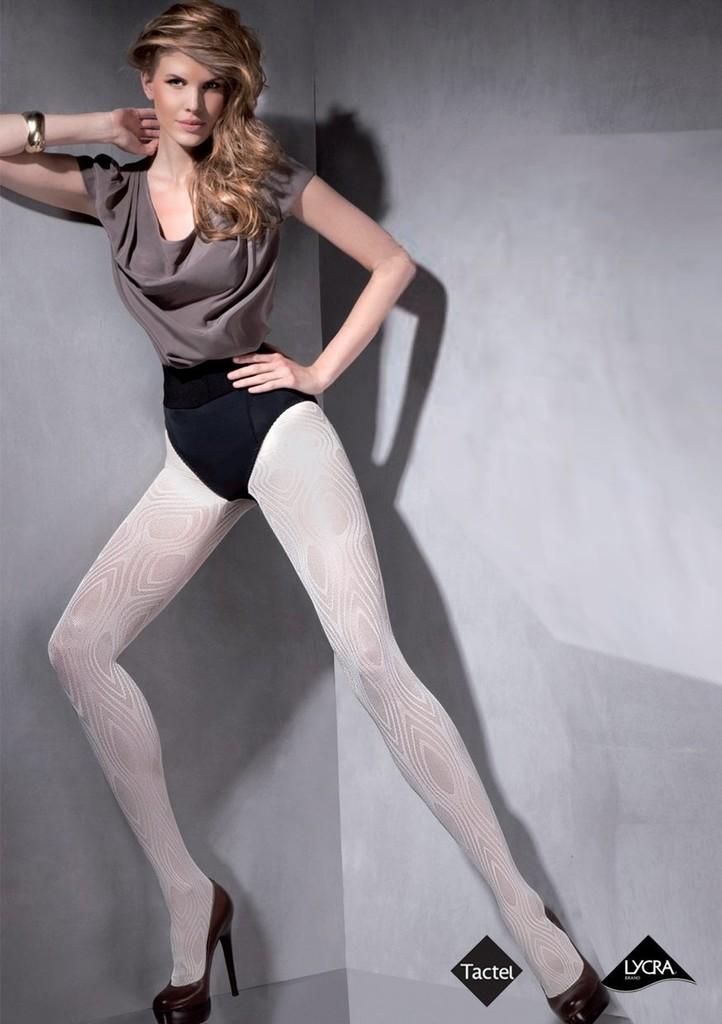 Dámské vzorované punčochové kalhoty Syntia