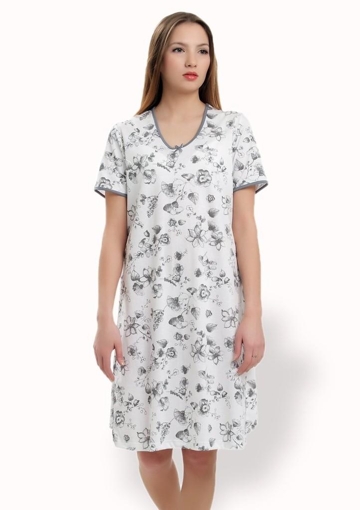 Dámská noční košile se vzorem květu