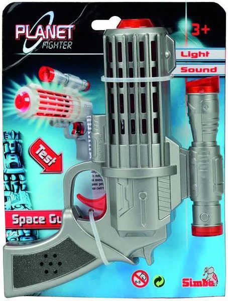 Planet Fighter Laserová pistole 16 cm Světlo + Zvuk